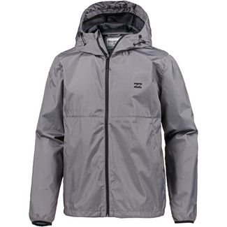 Billabong TRANSPORT WINDBREAKE Kapuzenjacke Herren GREY HEATHER