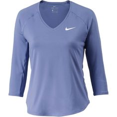 Nike Tennisshirt Damen purple slate-white