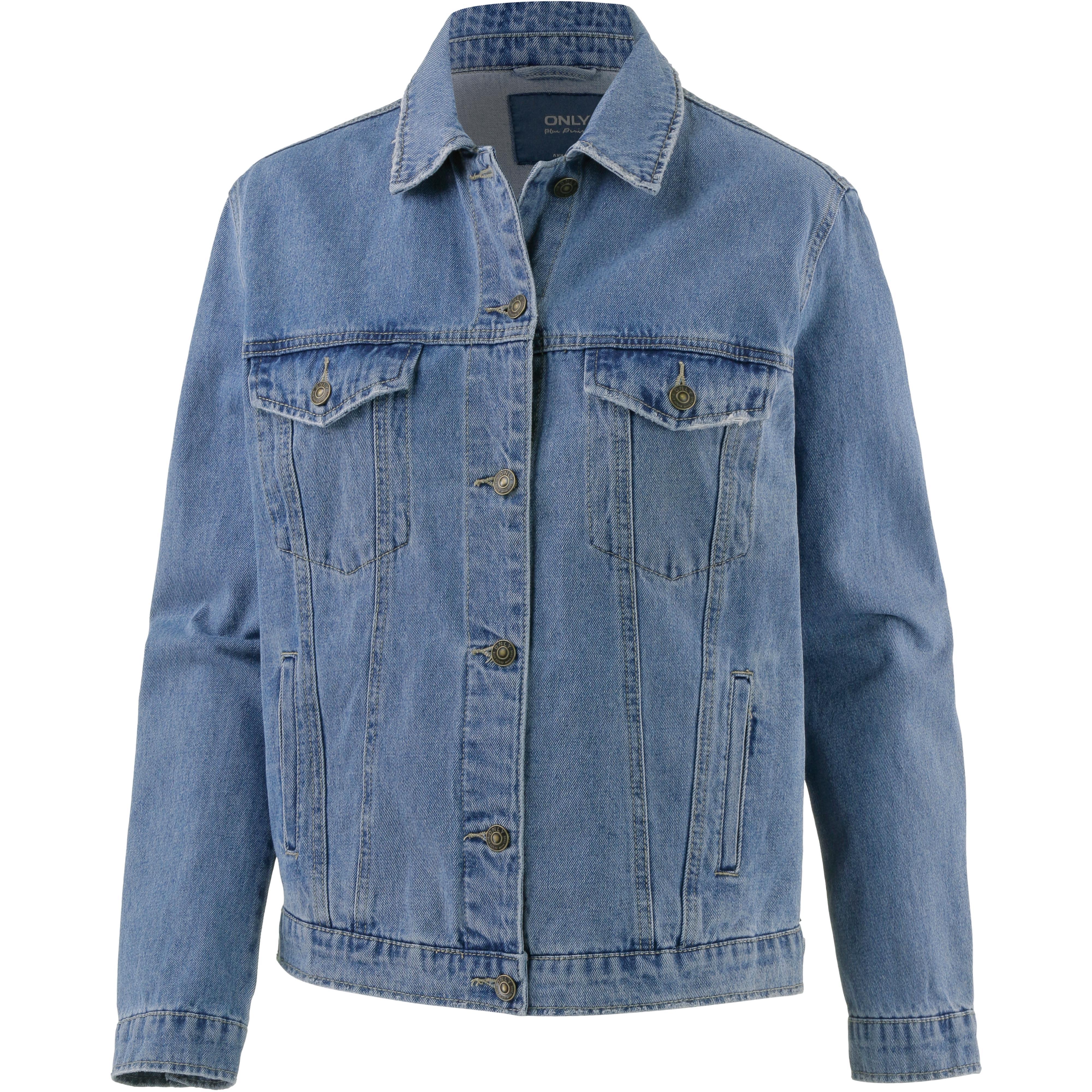 check out a2519 ef1e3 Only Jeansjacke Damen medium-blue-denim im Online Shop von SportScheck  kaufen