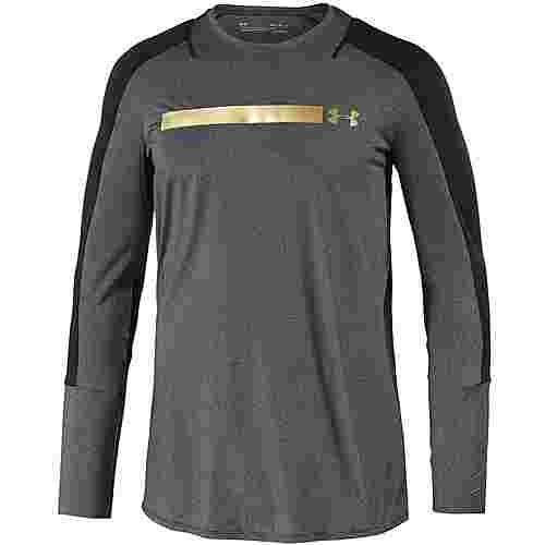 Under Armour Perpetual Fitted Funktionsshirt Herren black-metallic-victory-gold