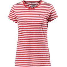 Tommy Jeans T-Shirt Damen SPICED CORAL-BRIGHT WHITE