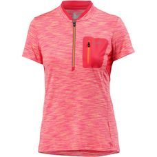 CMP FREE BIKE HALF ZIP T-SHIRT Fahrradtrikot Damen orange fluo-red fluo