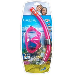 AQUA LUNG COMBO MIX CL/L Schnorchelset Kinder pink