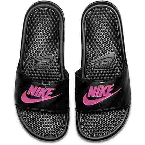 Nike Slides Benassi JDI Badelatschen Damen black-vivid pink