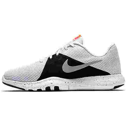 Nike Flex Trainer 8 Fitnessschuhe Damen white-metallic silver-black-total crimson