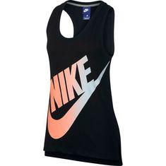 Nike Logo Futura Tanktop Damen black-crimson pulse-barely grey