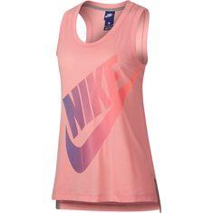 Nike Logo Futura Tanktop Damen bleached coral-purple slate-crimson pulse