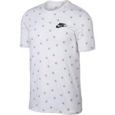 Nike NSW CNPT Blue 4 T-Shirt Herren white-black