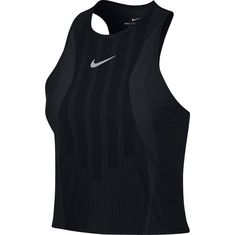 Nike French Open W NKCT ZCL SLAM TANK PS NT Tennisshirt Damen black-anthrazit