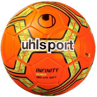 Uhlsport INFINITY 350 LITE SOFT Fußball fluo rot-schwarz-fluo gelb