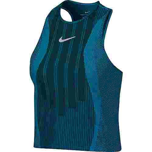 Nike French Open W NKCT ZCL SLAM TANK PS NT Tennisshirt Damen neo turq-black