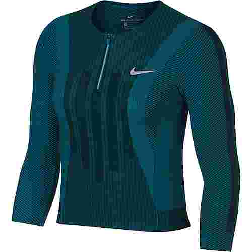 Nike French Open W NKCT ZCL SLAM TOP PS NT Tennisshirt Damen neo turq-black