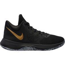 Nike AIR PRECISION II Basketballschuhe Herren black-mtlc gold