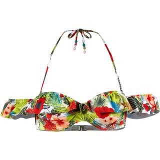 Beachlife Bikini Oberteil Damen grün-rot