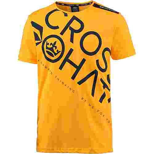 Crosshatch T-Shirt Herren saffron