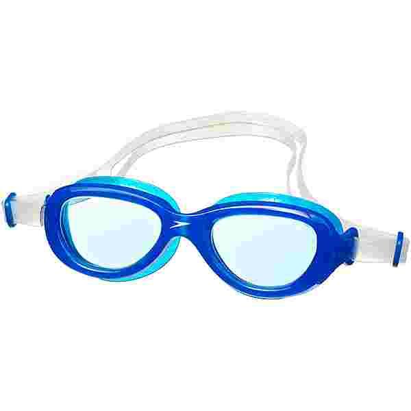 SPEEDO Futura Classic Schwimmbrille Kinder clear-neon blue