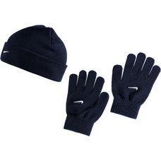 Nike Set aus Mütze, Schal und Handschuhe Kinder obsidian