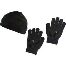 Nike Set aus Mütze, Schal und Handschuhe Kinder black-volt