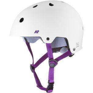 K2 JR Varsity Skate Helm Kinder weiss-lila