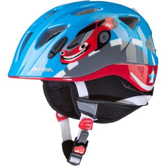 ALPINA XIMO FLASH WINTER Fahrradhelm Kinder red car