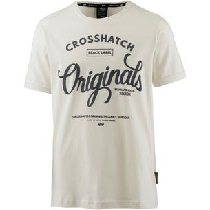 Crosshatch T-Shirt Herren vaporous grey