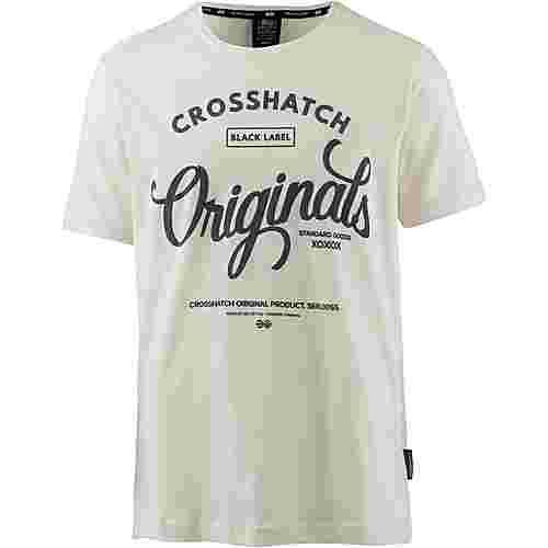 Crosshatch T-Shirt Herren vaporous grey