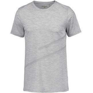 SCHECK Merino T-Shirt Herren hellgrau