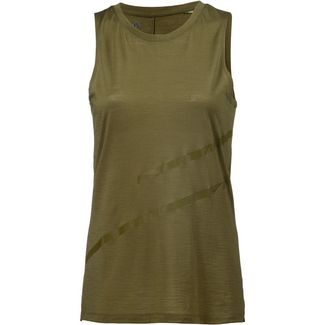 SCHECK Merino Tanktop Damen dunkelgrün