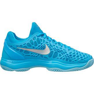 Nike Paris WMNS NIKE AIR ZOOM CAGE 3 CLY Tennisschuhe Damen lt blue fury-mtlc silver