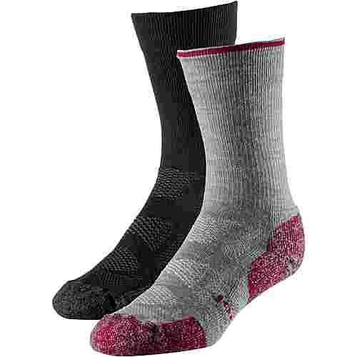 Smartwool Merino Doppelpack Sport Light Crew Wandersocken black-light gray