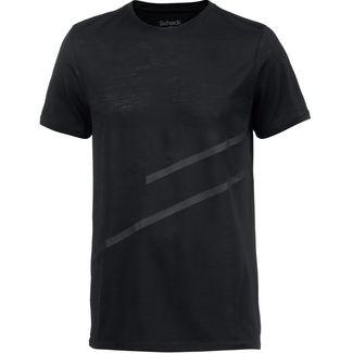 SCHECK Merino T-Shirt Herren schwarz
