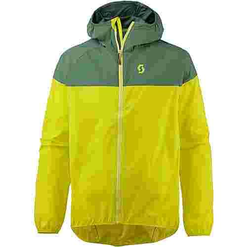 SCOTT Trail 40 Windbreaker Herren dark ivy green/sulphur yellow
