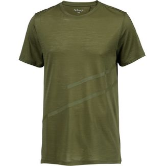 SCHECK Merino T-Shirt Herren oliv