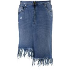 Only Jeansrock Damen medium-blue-denim