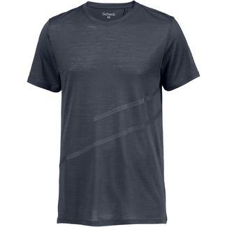 SCHECK Merino T-Shirt Herren graublau