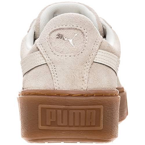 PUMA Suede Platform Bubble Sneaker Damen hellgrau weiß im