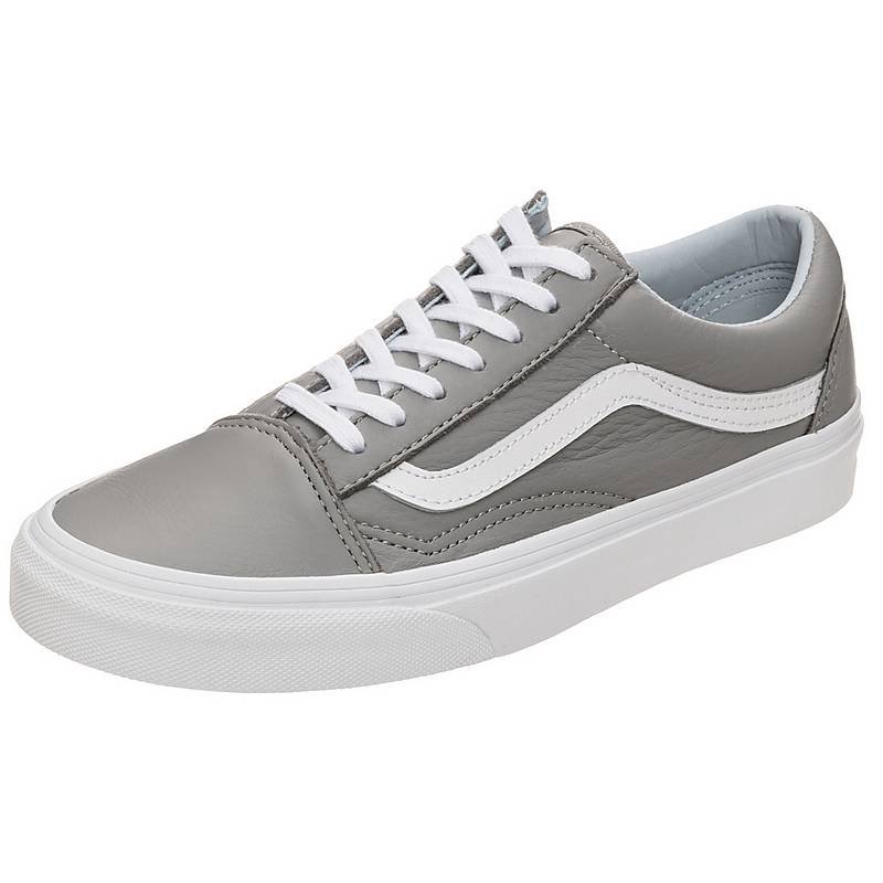 vans old skool damen grau weiß
