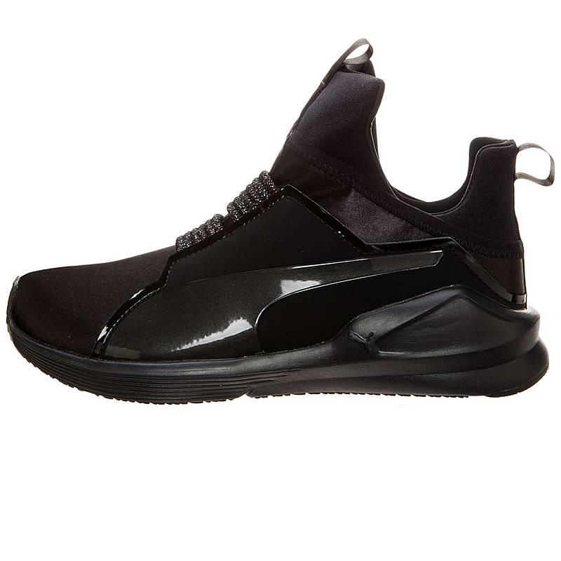 PUMA Fierce Satin En Pointe Fitnessschuhe Damen schwarz   silber. Vollbild 7c45c6403