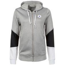 CONVERSE Core Kapuzenjacke Damen grau / schwarz / weiß