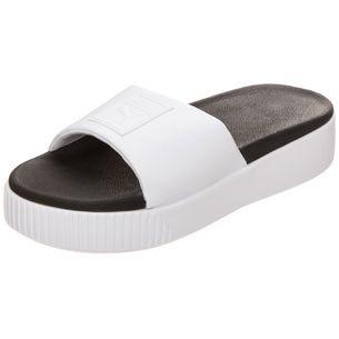 PUMA Platform Slide Sandalen Damen weiß / schwarz