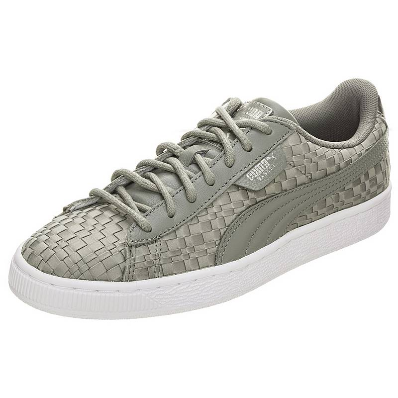 PUMABasket Satin En Pointe  SneakerDamen  grau / weiß