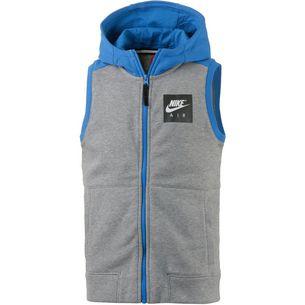 Nike Hoodie Kinder dk grey heather-blue nebula