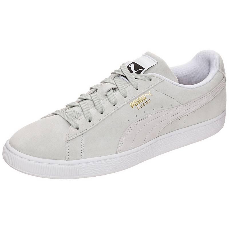 puma suede grau weiß