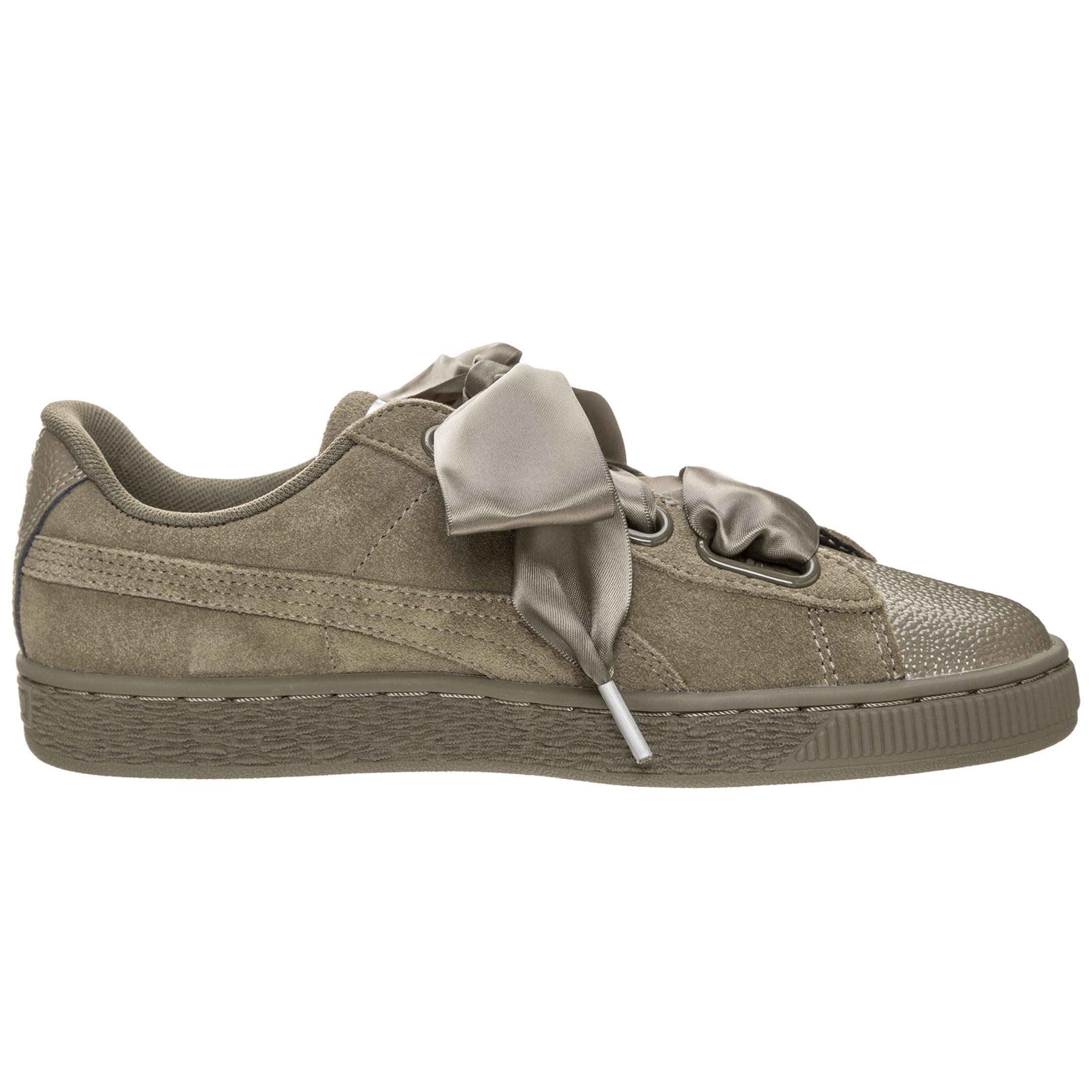 PUMA Suede Heart Heart Heart Bubble Sneaker Damen braun / silber im Online Shop von SportScheck kaufen Gute Qualität beliebte Schuhe 543fbf