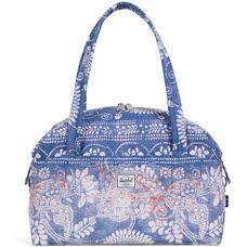 Herschel Strand Duffel X-Small Handtasche blau / weiß / braun