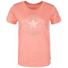 CONVERSE Clear Foil Chuck Patch T-Shirt Damen korall