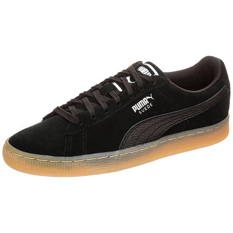 PUMASuede Classic Bubble  SneakerDamen  schwarz / silber