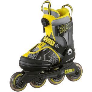 K2 Raider Boa Fitness Skates Kinder schwarz-grau-gelb