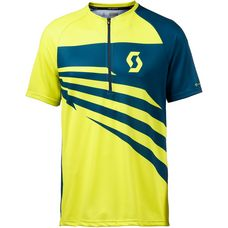 SCOTT Trail 10 Fahrradtrikot Herren sulphur yellow/lunar blue