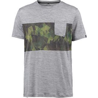 Pally Hi CAMO POCKET Merino T-Shirt Herren Heather Grey